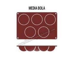 MOLDE MEDIA BOLA 5 CAVIDADES