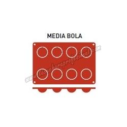 MOLDE MEDIA BOLA 8 CAVIDADES