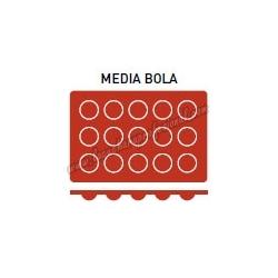 MOLDE MEDIA BOLA 15 CAVIDADES