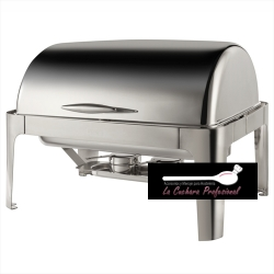 CHAFING DISH RECTANGULAR CON TAPA ROLL TOP