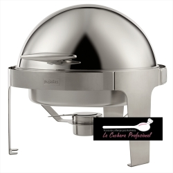 CHAFING DISH REDONDO CON TAPA ROLL TOP