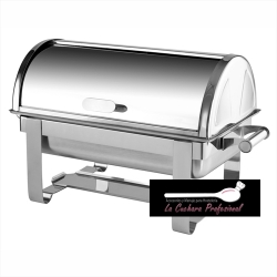 "CHAFING DISH CON TAPA ROLL TOP ""SERIE ECONÓMICA"""